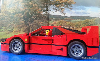 LEGO Ferrari F40 set 10248 driven by Technic figure review