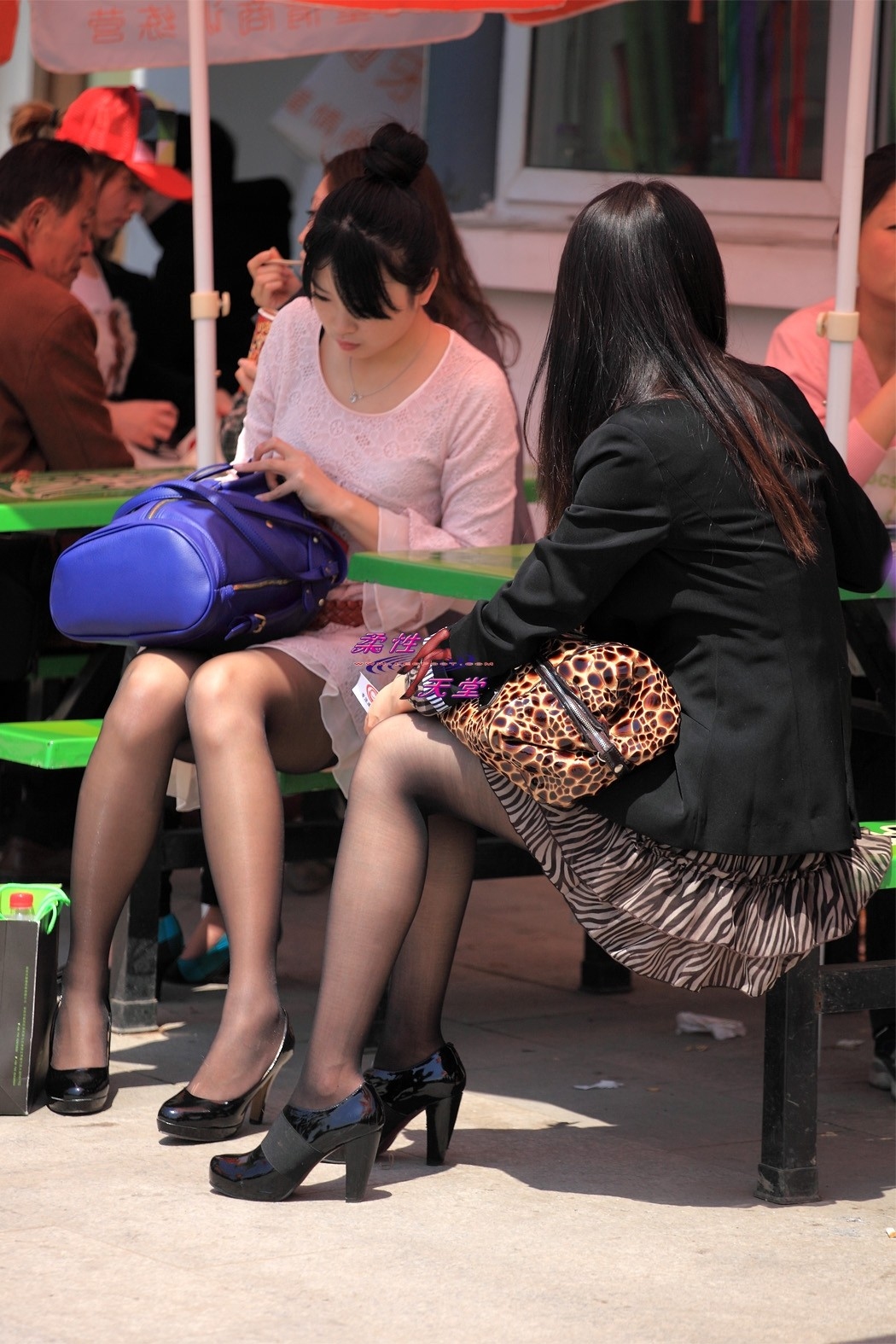asian candid heels and nylons