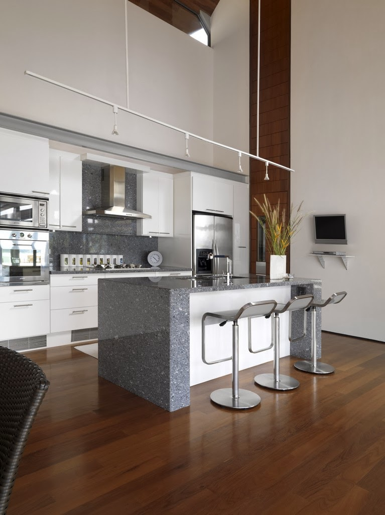 Kitchen in Villa with contemporary Asian design