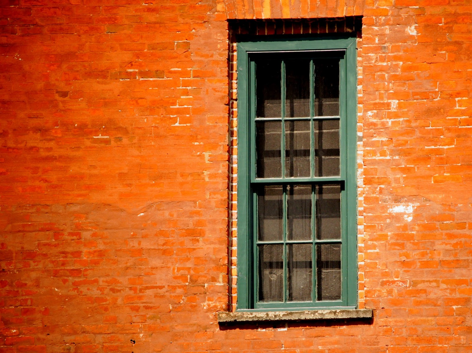 window of a red brick building