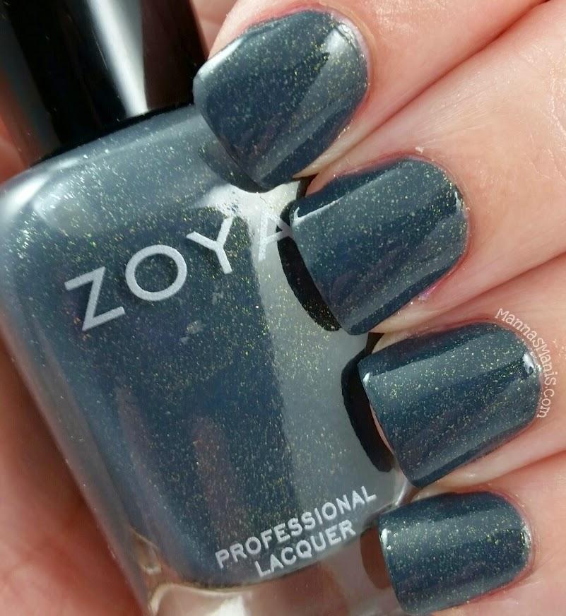zoya yuna, a greyish blue nail polish