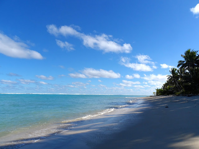 deserted beach on Rarotonga