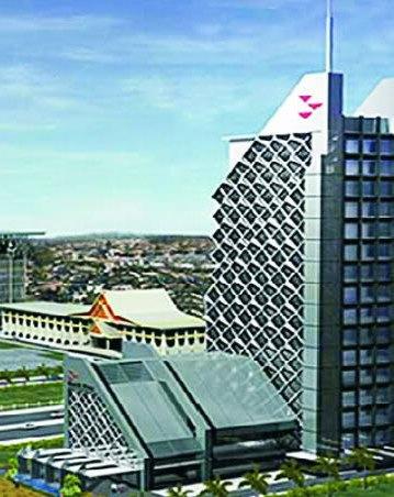Menara Dang Merdu Bank Riaukepri -  Gedung Tertinggi di Pekanbaru