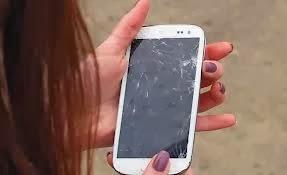 I dropped kicked smashed smart phone