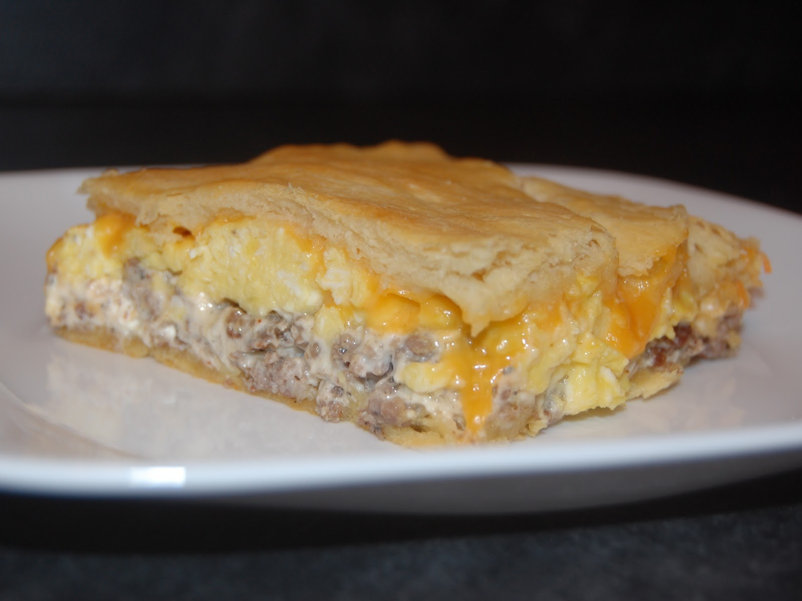 Cassie Craves Crescent Sausage Egg and Cheese Bake