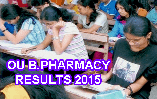 Osmania University B Pharmacy Results 2015 (All Semesters), OU B.Pharmacy May 2015 Results, osmania.ac.in B.Pharm Results Today, OU B.Pharmacy Results 2015 Download, OU B.Pharmacy Semester Results 2015