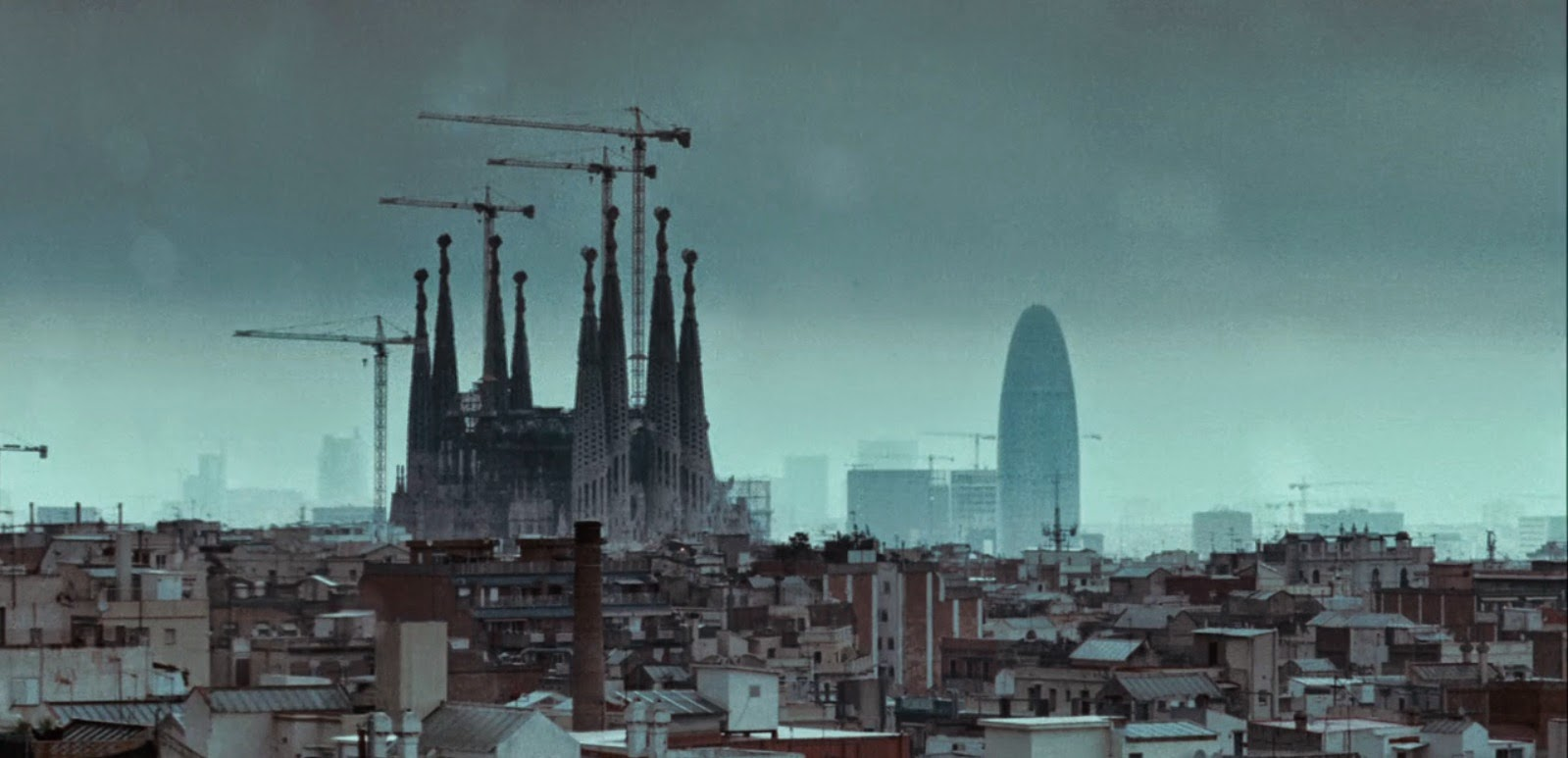 Screen grab, Biutiful, Barcelona skyline.