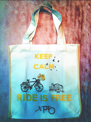 Ecobag eco frase-keep calm ride is free