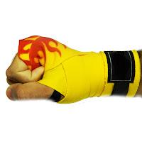 Como colocar bandagem elástica muay thai 2