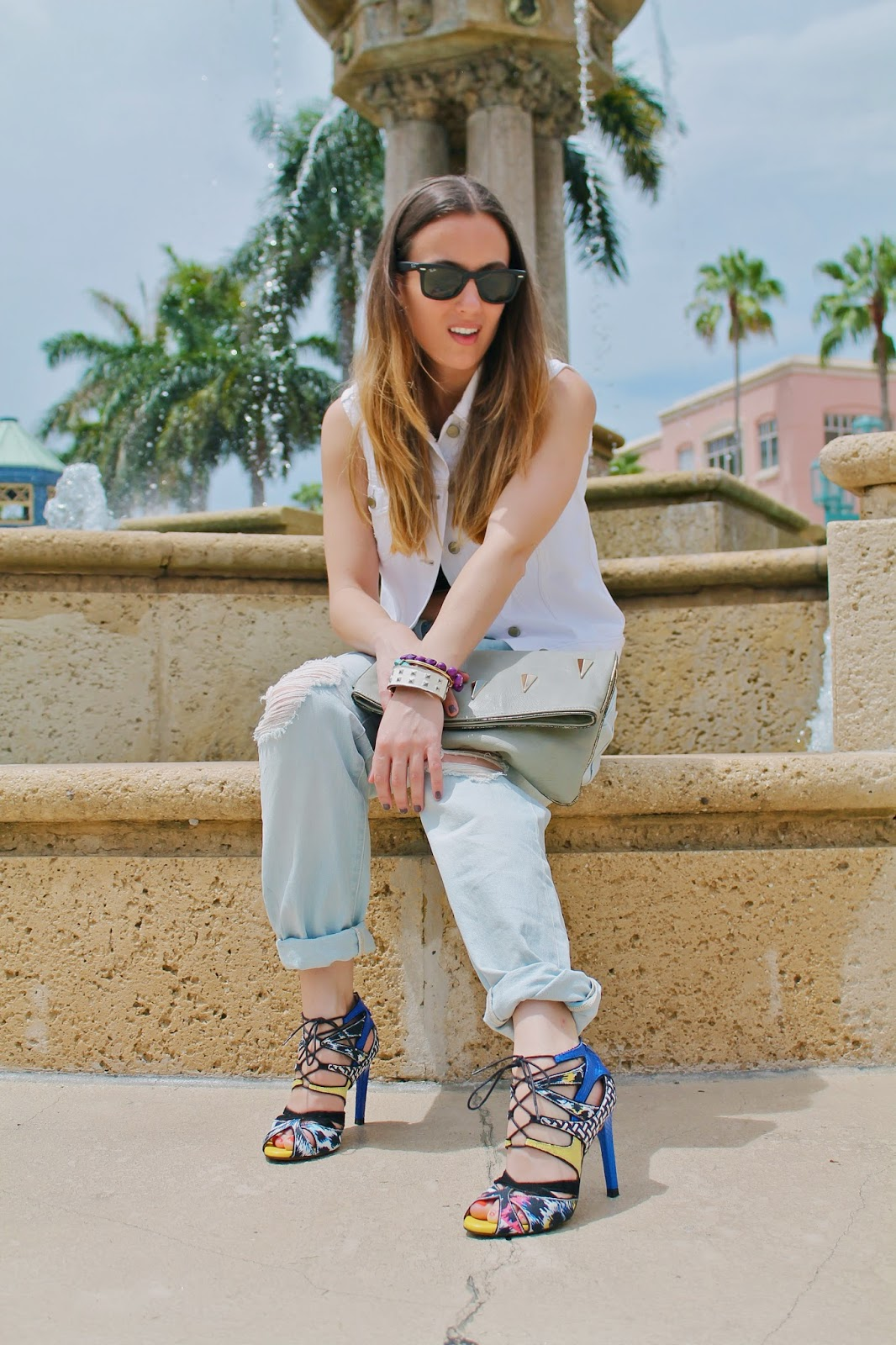 Gap, LF Stores, Zara, BCBGeneration, Nordstrom, Kate Spade, Ray-Ban, Miami fashion blogger, fashion blog, style blog, street style, classic, prep, distressed denim, denim vest, summer style