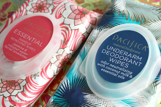 pacifica essential makeup removing wipes. pacifica underarm deodorant wipes, workout essentials, gym must-haves, vegan, cruelty-free