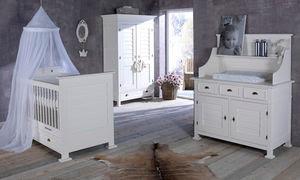 diseño dormitorio gris bebé