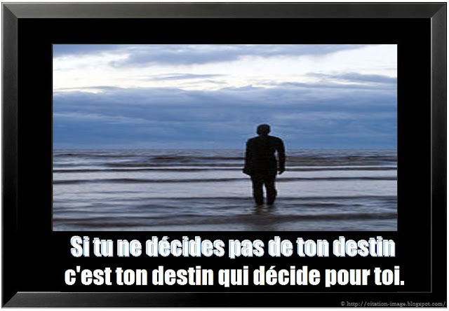 Citation destin en image