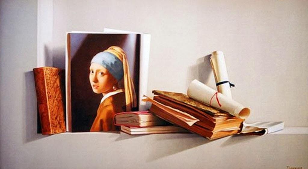 libros-en-hiperrealismo-al-oleo