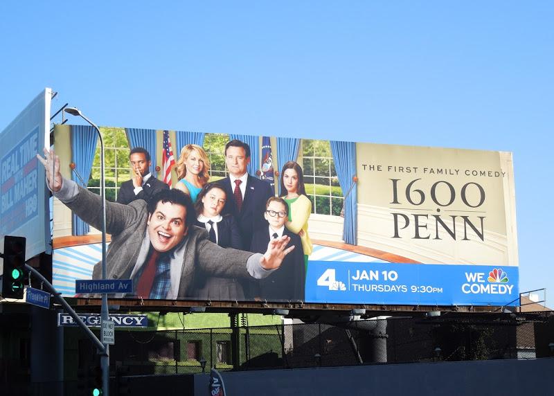 1600 Penn season 1 special extension billboard