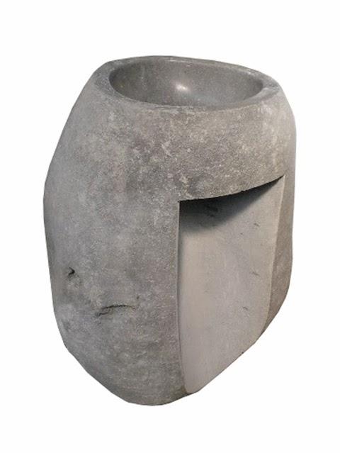 Pedestal Sink Natural River Stone / Batu Kali