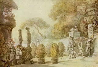 Entrance to Vauxhall Gardens - Water Color Painting