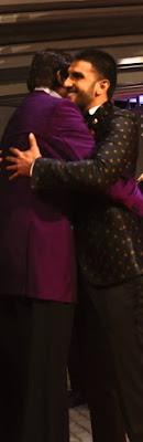 Ranveer and Amitabh Bachhan at Colors Stardust award