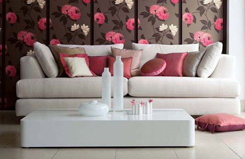 Modern Furniture: Modern living room decorating design ideas 2011