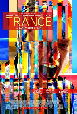 Trance, Danny Boyle, Vincent Cassel, James McAvoy, Rosario Dawson, London, affiche, teaser, trailer, Londres, Welcome to the punch, critique, Slumdog Millionaire, 127 Hours, 127 Heures, Trainspotting, Sunshine