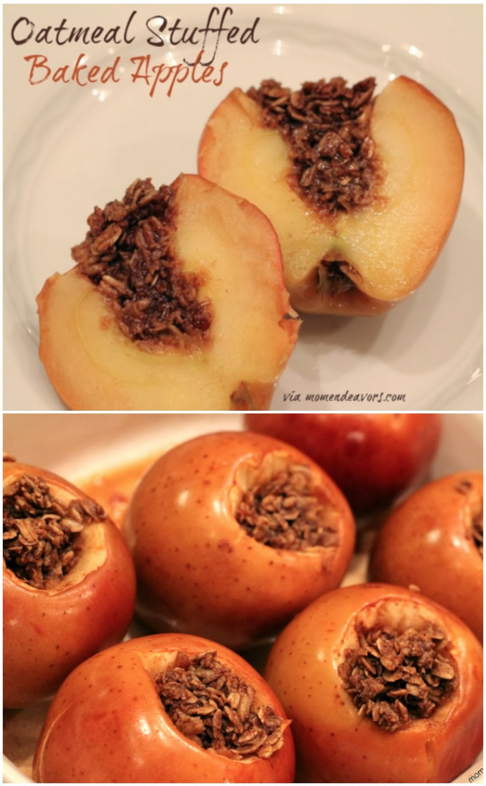 Oatmeal Stuffed Baked Apples