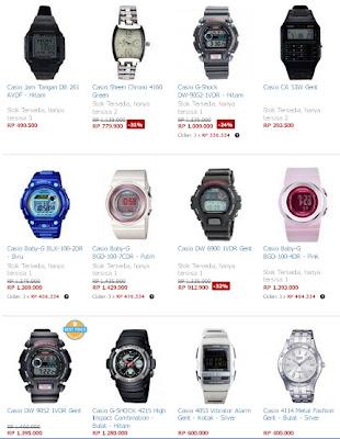 Daftar Harga Jam Tangan Casio Murah Agustus 2013