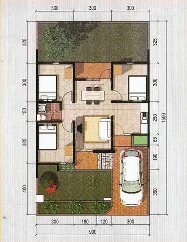 rumahku 1 gambar denah rumah type 60 135