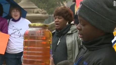 Flint's Dirty Water. (Screen capture from CNN video)