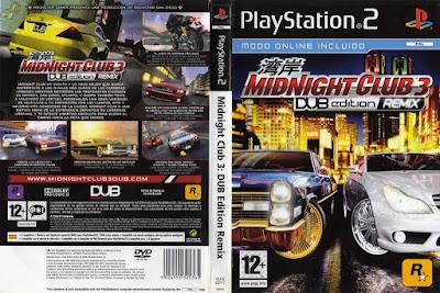 Jogo Midnight Club 3 DUB Edition Remix PS2 DVD Capa