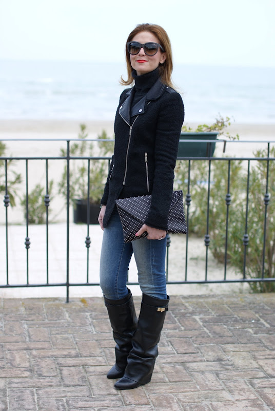zara jacket, Givenchy lookalike boots