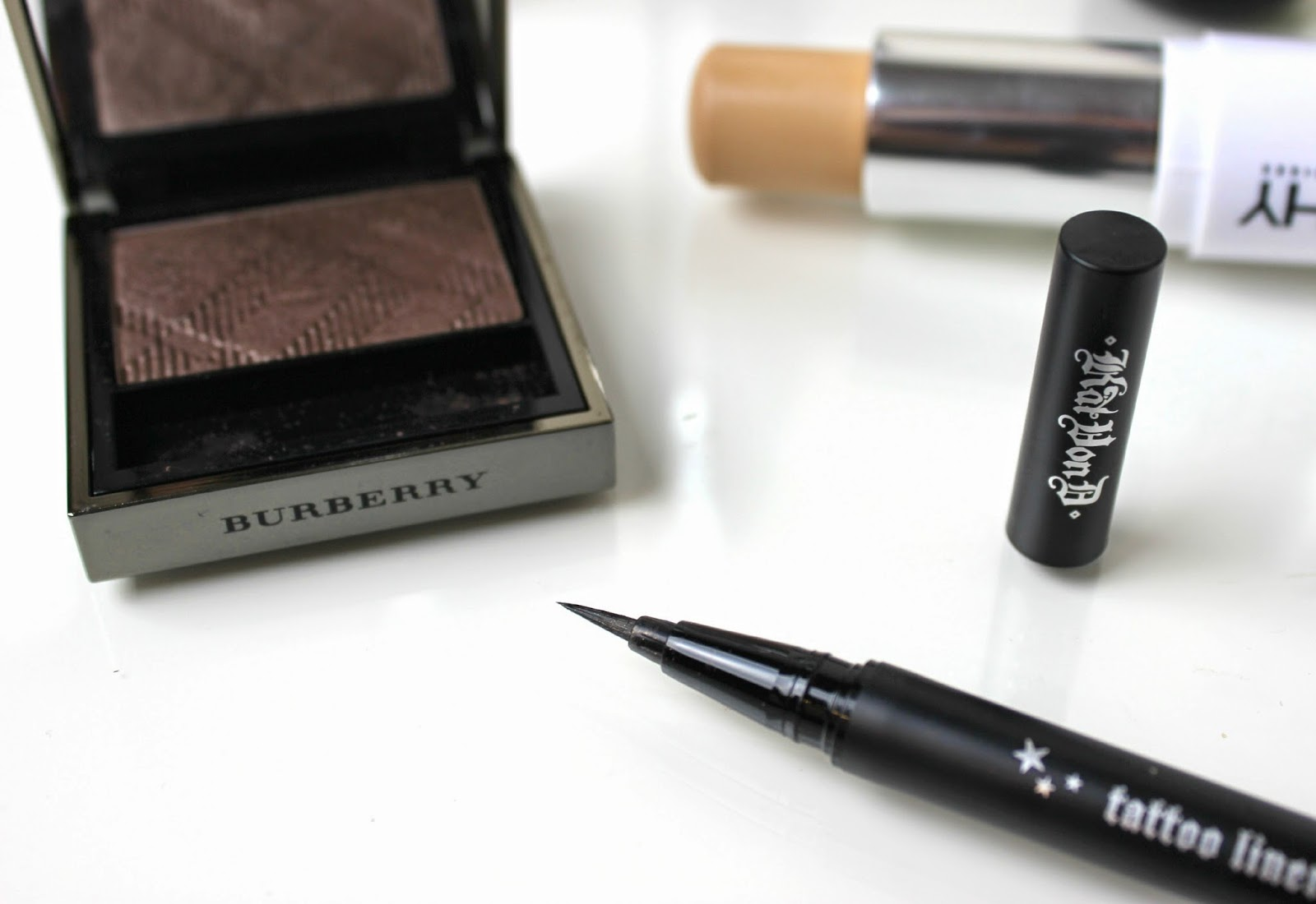 Burberry Midnight Brown Sheer Eye Shadow & Kat Von D Tattoo Liner