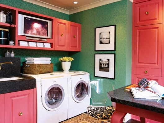 Pink-storage-cabinets-for-laundry-room