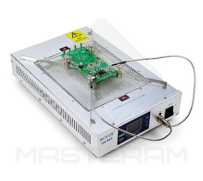 Установка платы на держателе плет кварцевого инфракрасного преднагревателя плат AOYUE Int 863
