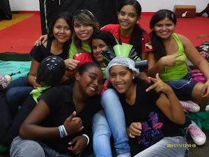 algumas meninas da equipe