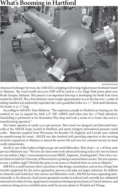 feedwater heater press