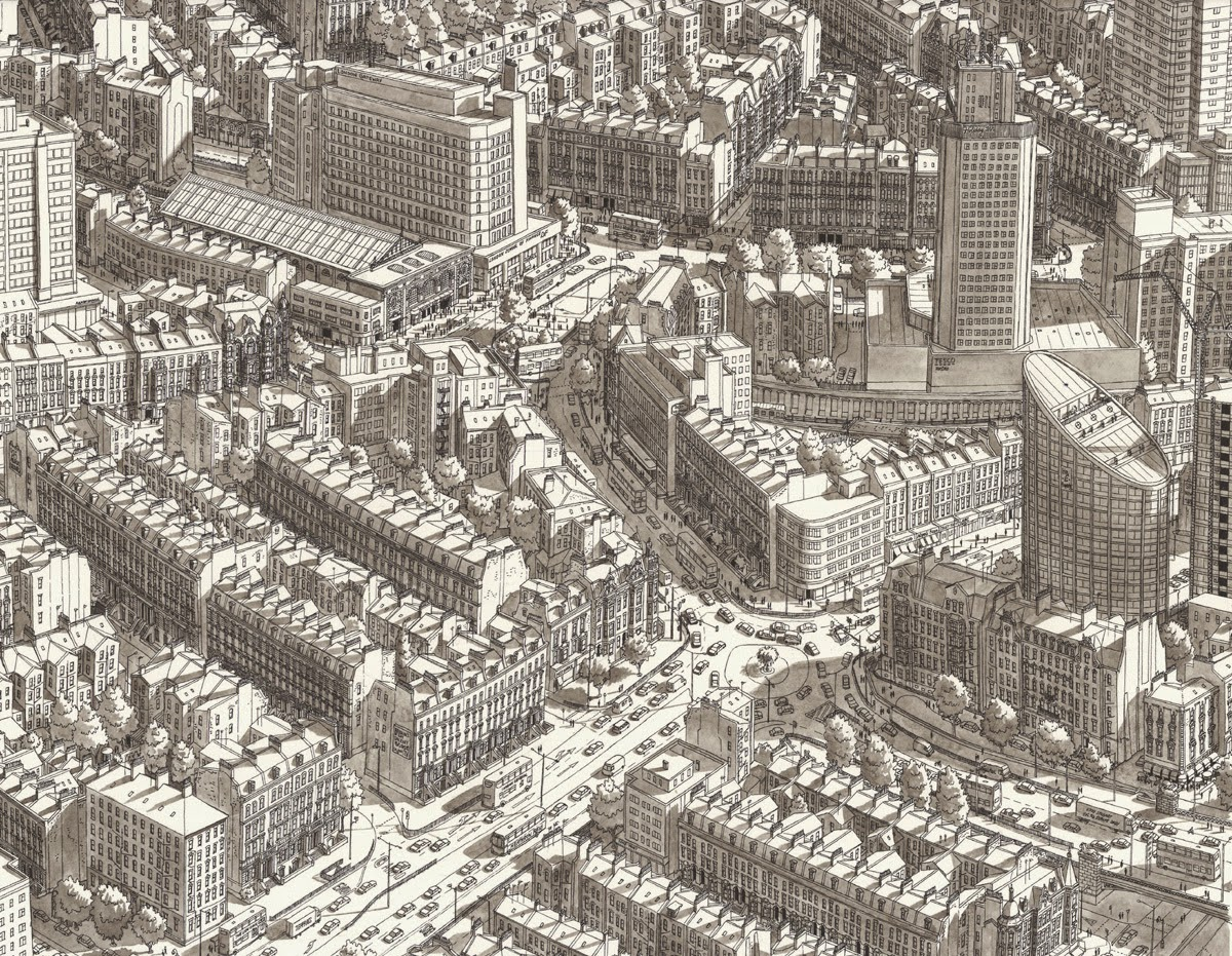 09-Somewhere-over-London-Stefan-Bleekrode-Fantasy-in-Detailed-Architectural-Drawings-www-designstack-co