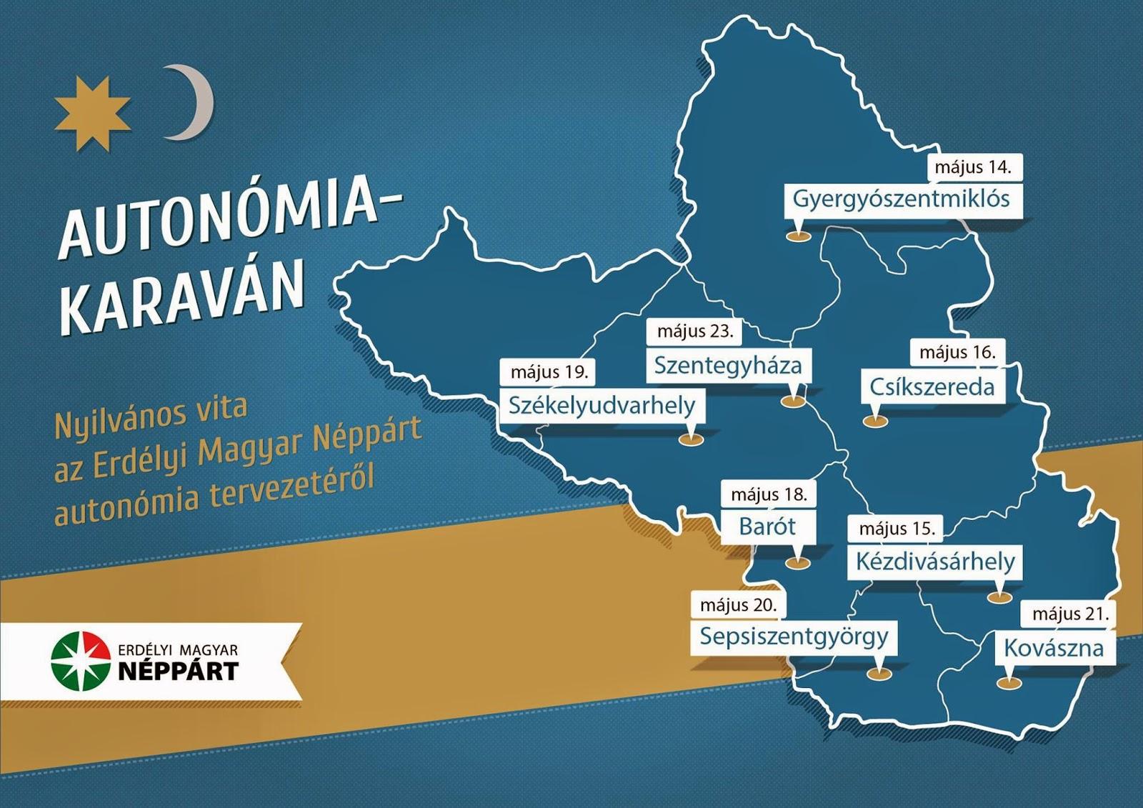 Székelyföld, magyarság, autonómia, Partium, EMNP, Toró T. Tibor, autonómia-karaván,
