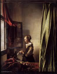 Vermeer schilderij Brieflezend meisje bij venster