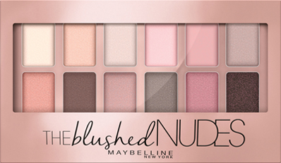 sombras Maybelline The Blused Nudes para ojos ahumados