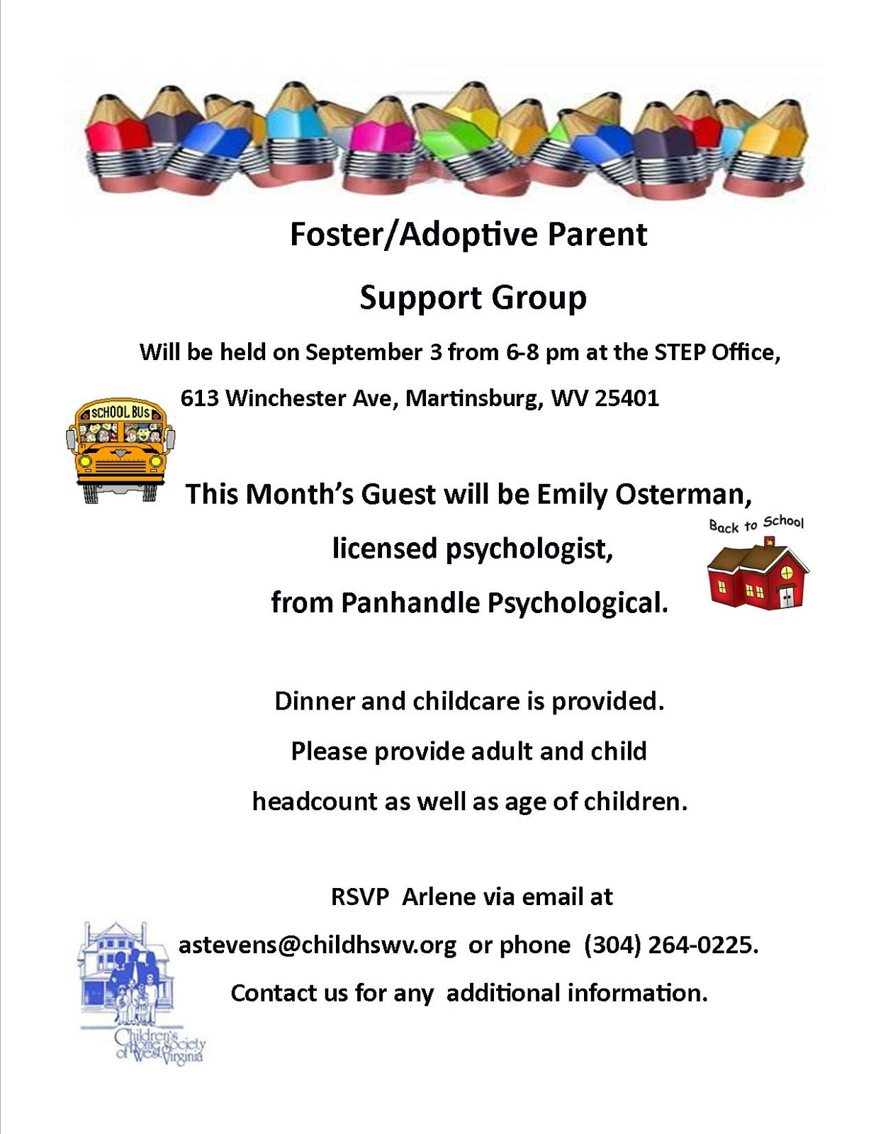 Wv colored childrens home - September Foster Adoptive Parent Support Group