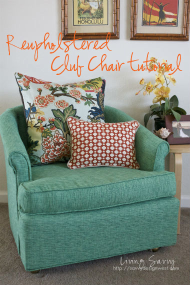 Living Savvy: How To: Reupholster A Club Chair