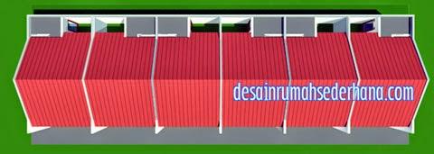 contoh desain rumah kontrakan desain rumah sederhana