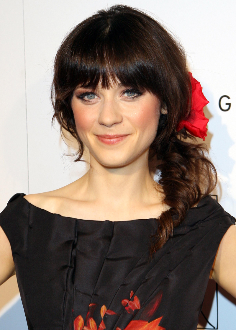 Fresh Look Celebrity Zooey Deschanel Hairstyles 12