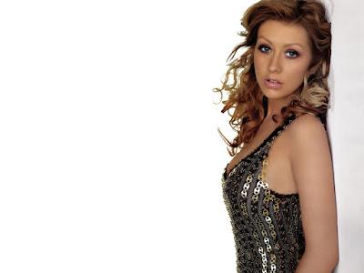 American Recording Artist Christina Aguilera Wallpaper