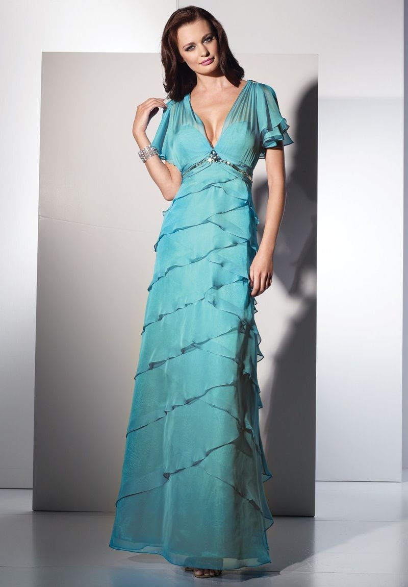 Tiffany Blue Mother of the Bride Dress