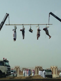 """Crucifixion"" of beheaded bodies in KSA"