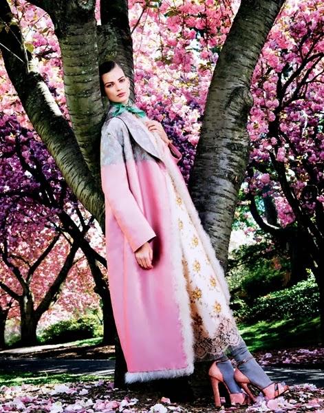 Louis Vuitton AW 2013 Pink furry coat