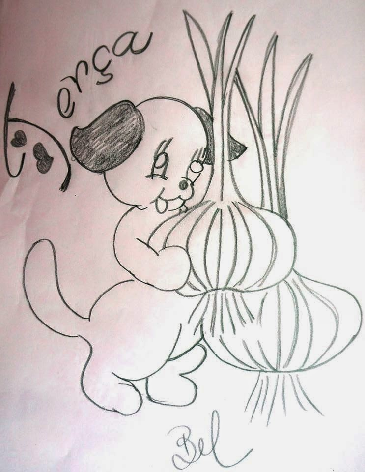 desenho da semaninha do cachorrinho com frutas - terca- feira