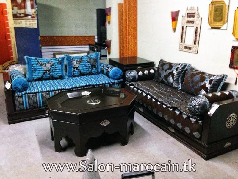 salon marocain chic et moderne d coration salon marocain. Black Bedroom Furniture Sets. Home Design Ideas