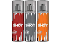 Buy Layer'r Shot Hot Pack of 3 Deodorants For Men at ? 474:buytoearn